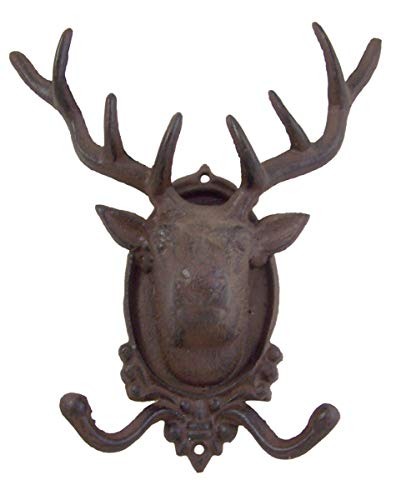 Cast Iron Elk Wall Hook 9 3/4 Inch