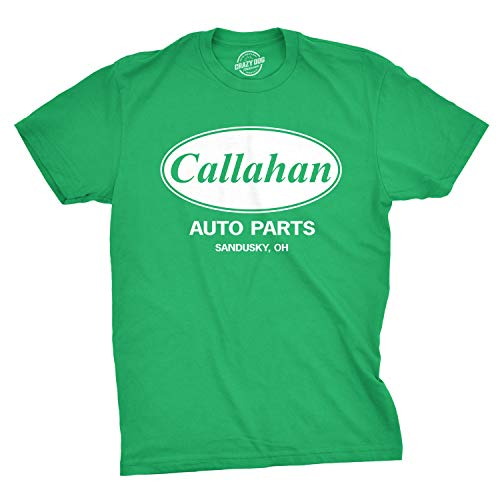 Mens Callahan Auto T Shirt Funny Shirts Cool Humor Movie Quote Sarcasm Tee (Green) - S ()