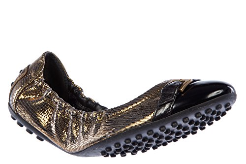 gold XXW0HI04070DB71167 UK flats dee women's 4 leather ballet Tod's bucklestta size ballerinas xwqSC0OqT