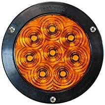 4 Round Amber LED Strobe light