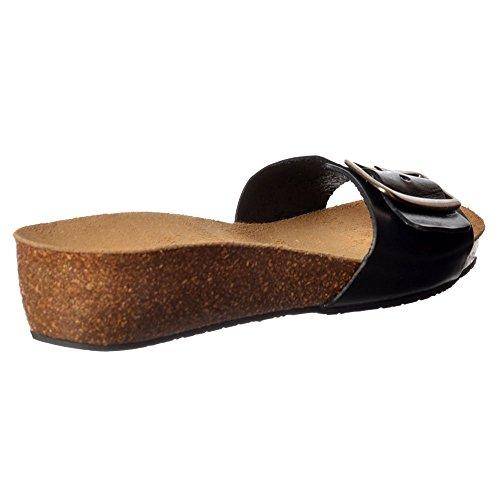 Flip Chloe Leather Flop Sandal Sweet Full Black Women's IU8x5Pwq4
