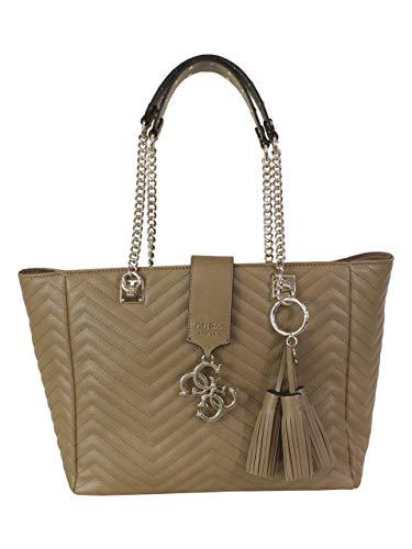 Guess Violet Carryall, Women's Shoulder Bag, Black (Tan), 31.5x26.5x13 cm (W x H L) - Guess Top Zip Shoulder Bag