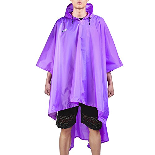 Nylon Rainwear Poncho - Camping Rain Coat Lightweight Multifunction Backpack Rainwear Poncho Raincoat Mat