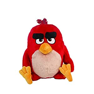 """Angry Birds Movie 11"""" Talking Feature Plush Red - 412CmQbbp8L - Angry Birds Movie 11″ Talking Feature Plush Red"""