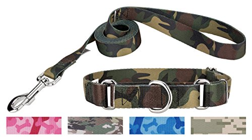 Country Brook Petz Woodland Camo Martingale Dog Collar & Leash - Extra Small