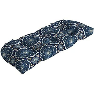 Comfort Classics Inc. Outdoor/Indoor Patio Blue Pattern Settee Bench Cushion 45x18x5. Polyester Fabric : Garden & Outdoor