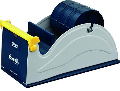 (T.R.U. ET-337 Blue/Grey Premium Multi-Roll Steel Desk Top Tape Dispenser: 3 in. wide (3 in. core))