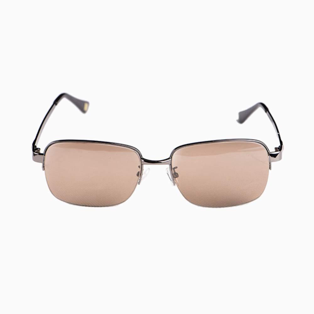 メンズサングラスメンズカーメガネ、防風ドライビングサングラス、ナチュラルクリスタルストーン 女性の日曜大工 (色 : 黒) 黒