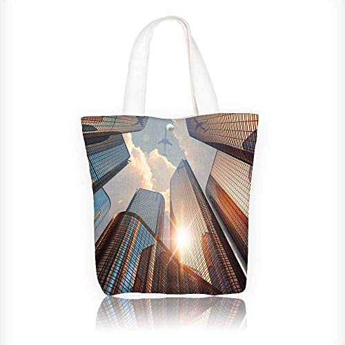 Canvas Shoulder Hand Bag corporate construction and real estate Tote Bag for Women Large Work tote Bag Shoulder Travel Totes Beach Bag W11xH11xD3 INCH