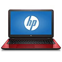 HP Flyer 15.6 Inch Laptop (Intel Pentium Quad-Core N3540 Processor up to 2.66GHz, 4GB RAM, 500GB Hard Drive, DVD Drive, HD Webcam, Windows 10 Home, Red) (Certified Refurbished)