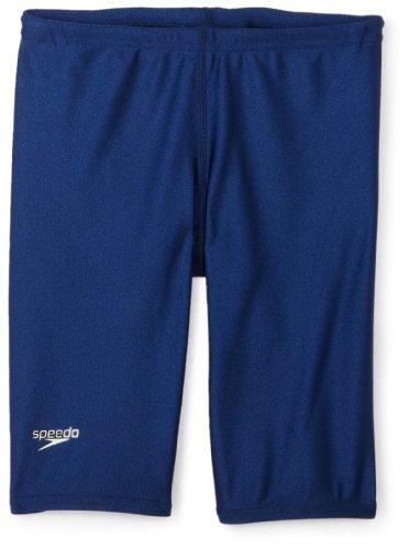 Speedo Big Boys' PowerFLEX Eco Solid Jammer Swimsuit, Navy, - Swim Suits Bathing Eco