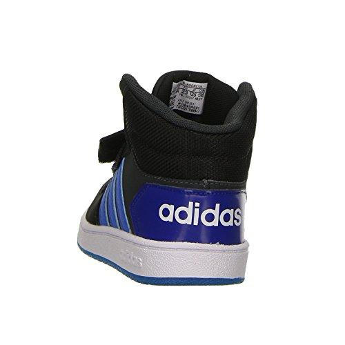 adidas Unisex Baby Vs Hoops Mid 2.0 Sneaker Grau (Carbon/Bright Blue/Core Black)