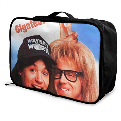 MKevinC Wayne's World 2 Travel Duffel Bag For Weekend Bag Overnight Carry On Lightweight Large Capacity Portable Luggage Bag