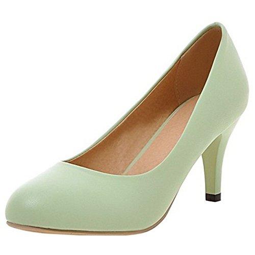 Zanpa Femmes Normal Chaussures Talons Hauts Escarpins 2#Green