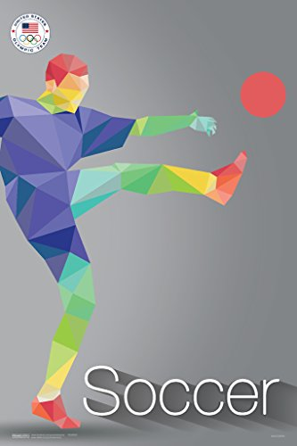 USA Olympic Team Rio 2016 Soccer Sports Poster