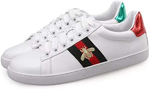 男女古典的なファッション蜂白いウォーキング靴