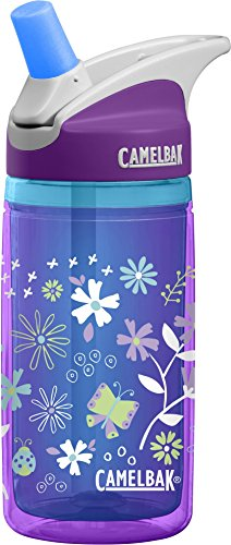CamelBak Eddy Kids Insulated Water Bottle, Purple Flowers, .4 L