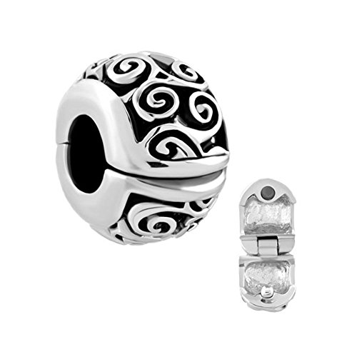 New Irish Celtic Swirl Flower Clip Lock Stopper Spacers Sale Beads Cheap fit Charms Bracelet