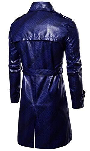 TTYLLMAO Long Fit Slim Midi Men's Coats 1 Breasted Parka Double Overcoat rU0rwxBq