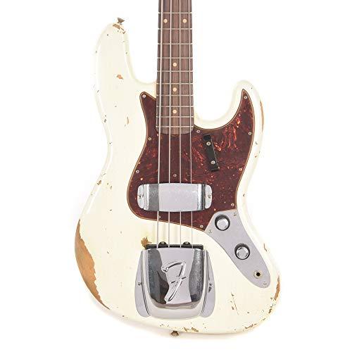 Fender Custom Shop 2019 Time Machine 1961 Jazz Bass Heavy Relic Aged Olympic White ()