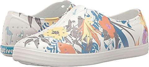 Native Shoes Women's Jericho Shell White/Shell White/Bouquet Sneaker (Size 8 Native Shoes)