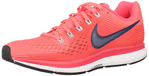 NIKE Damen WMNS Air Zoom Pegasus 34 Laufschuhe, Hot Punch/Thunder Blue