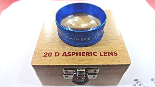 Top Quality 20D Blue Clear CE Marked Double Aspheric lens Ophthalmology Equipment Accessories in Wooden Box