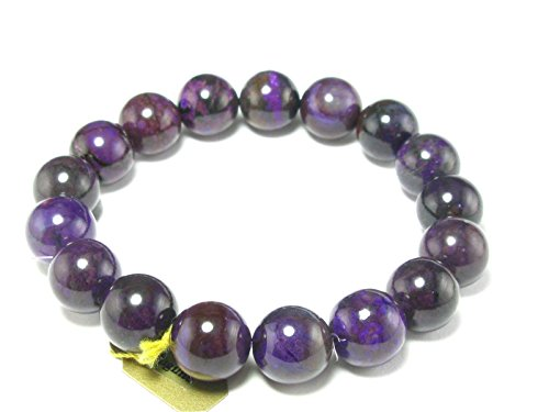 Sugilite A+ Grade Round Bracelet From South Africa - 7.5'' - 11mm Beads by The Russian Stone