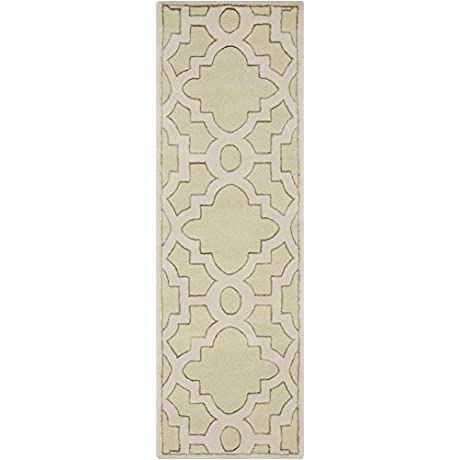 Surya Candice Olson Modern Classics CAN 2038 Hand Tufted 100 Percent New Zealand Wool Geometric Runner Rug 2 Feet 6 Inch By 8 Feet