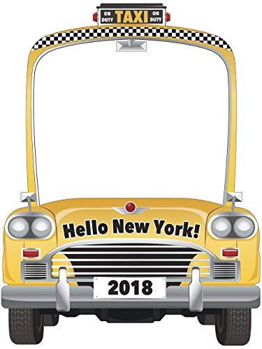 Taxi Photo Booth Frame, Yellow Cab Photo Prop- sizes 36x24, 48x36; Personalized Taxi Car Theme, Yellow Taxi Party Prop, Home Decorations, Taxi Photo Prop, Handmade Party Supply Photo Booth Frame