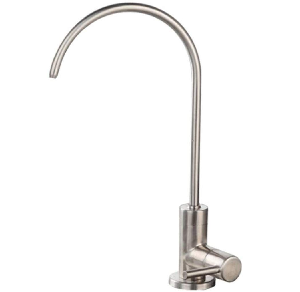 Taps Mixer Swivel Faucet Sink 304 Stainless Steel Drawing Single Cooling Water Purifier Faucet