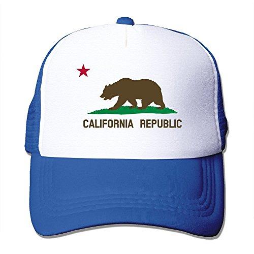 Azul Mesh oso de California blanco Trucker color real República Cap diseño de fresno xO5w1qPR0