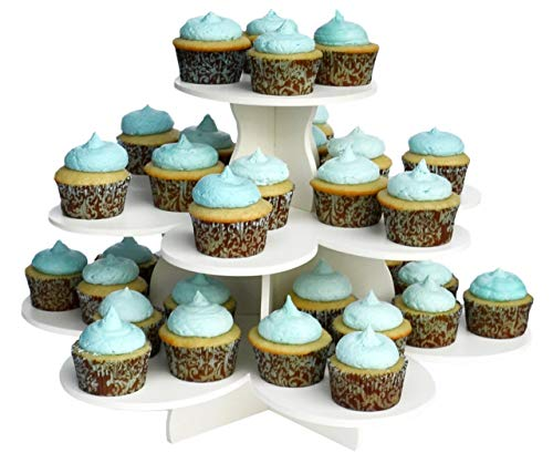 (The Smart Baker 3 Tier Flower Cupcake Tower Stand Holds 48+ Cupcakes