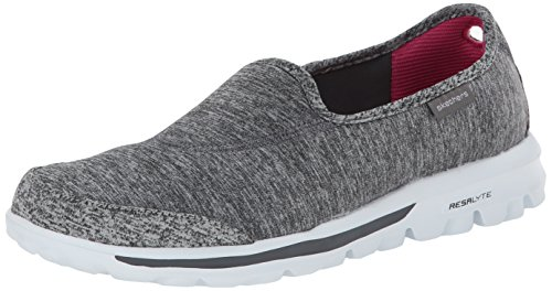 Skechers Performance Women's Go Walk Lead Memory Foam Slip-On Walking Shoe,Gray,7.5 M US