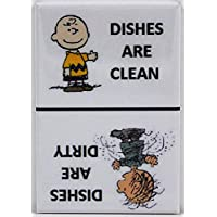 Player One Collectables Clean/Dirty Pigpen & Charlie Brown - Dishwasher Magnet. Peanuts (Pigpen/Charlie Brown - White)