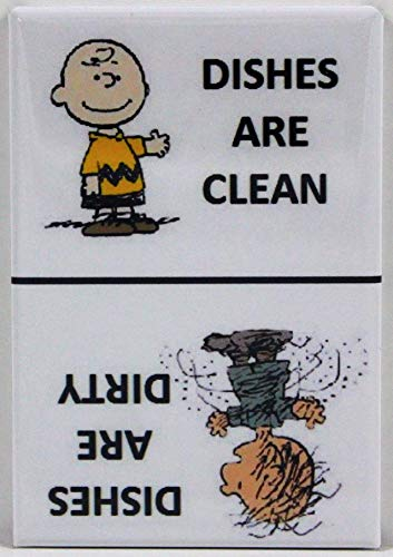 Player One Collectables Clean/Dirty Pigpen & Charlie Brown - Dishwasher Magnet. Peanuts (Pigpen/Charlie Brown - White) ()
