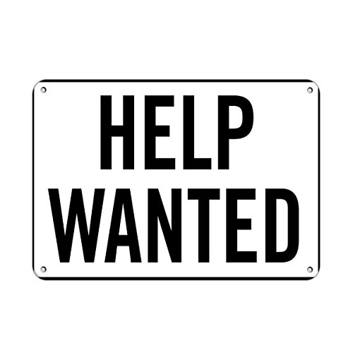 Help Wanted Business Sign Feature Department Store Signs Vinyl Sticker Decal 8