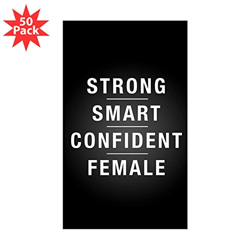 CafePress - Strong Smart Confident F - Sticker (Rectangle 50 pk) by CafePress