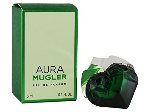 Mugler Aura Miniature For Women, 0.1 oz EDP -Name Brand Perfume Sample-Vials Included- - 0.1 Ounce Miniature