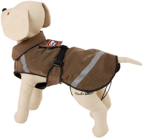Ring Detachable Girth (PetEgo Dogrich Birdwatcher Brown Dog Coat Size 16 Dog Jacket)