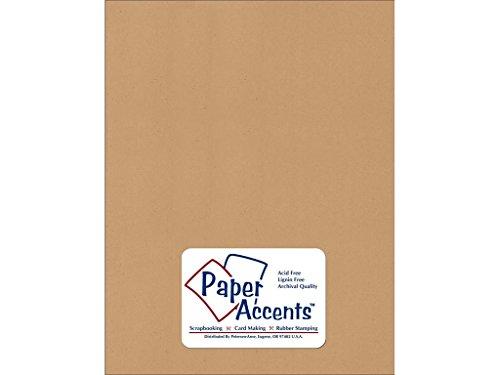 Accent diseño Acentos adp8511–25.371Nº 8021,6x 27,9cm Dark Kraft papel reciclado cartulina