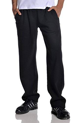 Pro Club Men's Open Bottom Comfort Fleece Sweatpant, Black,