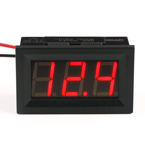 DROK 090077 Small Little DC Digital Voltmeter 2-Wire 0.56