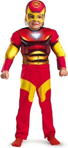 Iron Man Toddler Muscle Costume,S (2T)