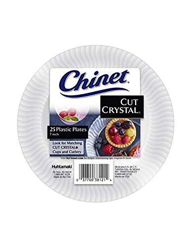 Chinet Cut Crystal Dessert Plates, 7 Inch, 100 Count