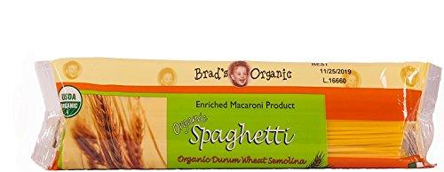 Brad's Organic Semolina Spaghetti, 16 Ounce (Pack of 20)