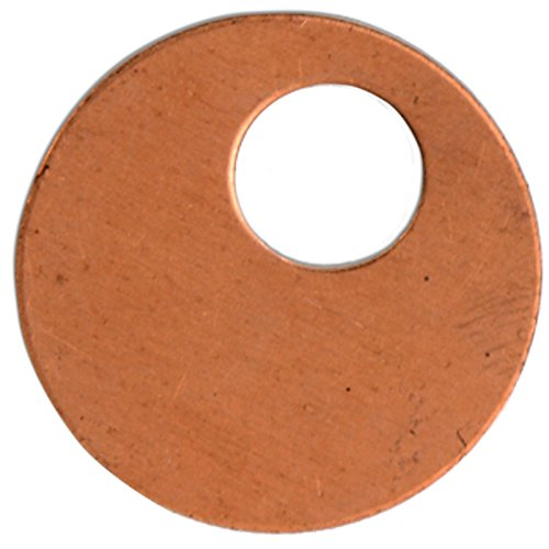 Sizzix 661773 Copper Metal Blanks, Off-Set Washer, 7/8 Inch, 4-Piece ()