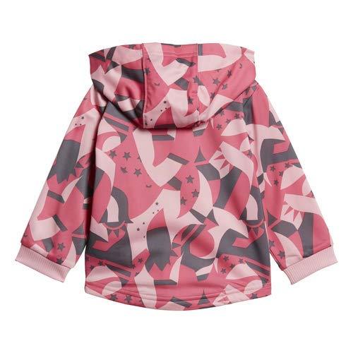 Light Pink//Semi Solar Pink//Grey//White 3M adidas Baby Shiny Full-Zip Hooded Jogger