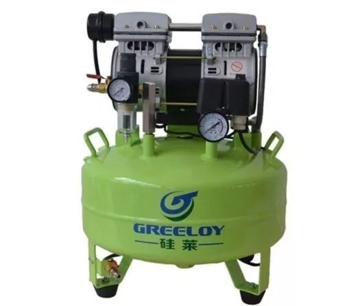Hot Dental Greeloy 24L Dental Noiseless Oilless Air Compressor Motor Oil Free Tank 600W CE BY - Soho Optics