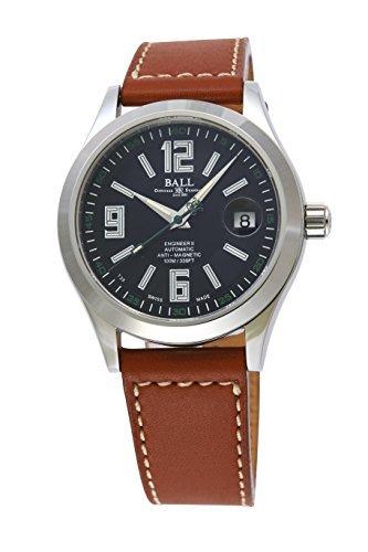 [ボールWatch ] Ball Watch腕時計エンジニアIIブラウンレザー自動巻上げブラックダイヤル100 M防水nm1020 C-l4j-bkメンズParallel import goods ] B06X8Z539K